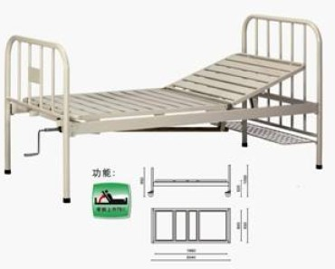 A301-1  Single Crank Two Folded Bed