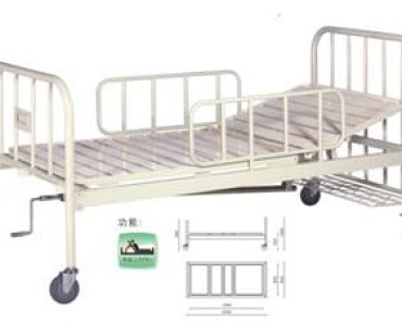 A301-2  Single Crank Two Folded Bed