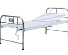 A305 Semi-stainless steel manual crank two folded Bed