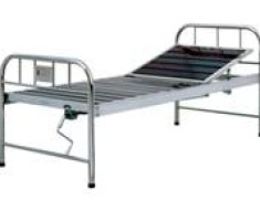 A309 Semi-stainless steel manual crank two folded Bed