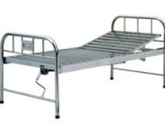 A310 Stainless steel manual crank two-folded bed