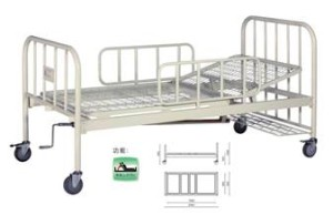 A327-2  Single Crank Two Folded Bed