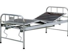 A410 Semi-stainless steel manual two crank three-folded Bed
