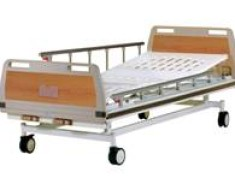 A419 Manual two-crank three-folded bed