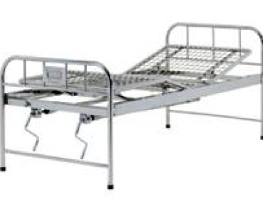 A423 Stainless steel manual two-crank three-folded bed