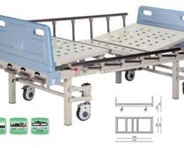 A425 Manual two-crank three folded bed